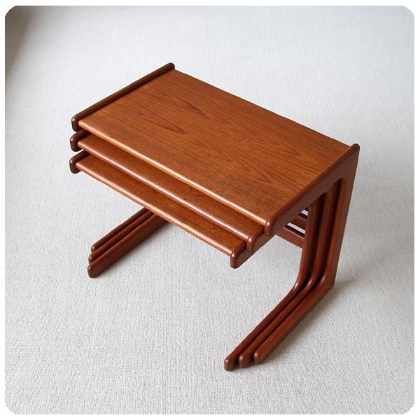 デンマーク ビンテージ ネストテーブル/北欧家具 Y-996