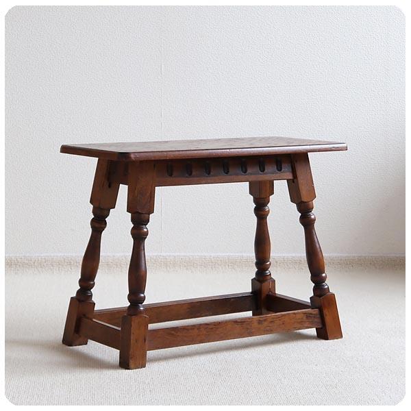 イギリス アンティーク スモールテーブル/オーク材/古木/スツール/飾り台/店舗什器【椅子としても使用いただけます】Z-141