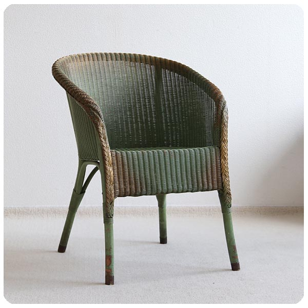 イギリス アンティーク ロイドルームチェア/LLOYD LOOM/アームチェア/店舗什器/家具/椅子【お部屋のアクセントに】Z-457