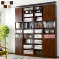 天井つっぱり書棚 スラスト 幅45cm 奥行26cm 扉付き