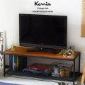 木製とスチールのヴィンテージデザインインテリア ケリア スチール棚ローボード