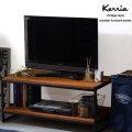 木製とスチールのヴィンテージデザインインテリア ケリア 木棚ローボード