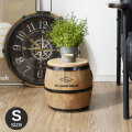 天然木製 樽型スツール 高さ24cm Sサイズ