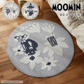 MOOMIN 日本製 コバナラグ 円形 90×90cm
