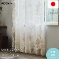 MOOMIN 日本製 レースカーテン 洗える 100×176