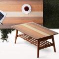 4種類の天然木 木製 折りたたみテーブル クワトロ 幅80cm