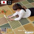 日本製 い草ラグ カーペット ふっくら ボリューム 約191×250cm