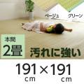 ラグ カーペット PPカーペット ポリプロピレンカーペット 洗える (洗濯機不可) 2畳 本間2畳 (約191×191cm)