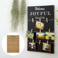 写真やポストカードを飾れる レットルエトフ フォトクリップパネルL