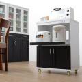 60幅 コンセント付き スリム 食器棚 電子レンジ台 炊飯器 キッチンボード