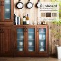 ナチュラルキッチン 食器棚ロータイプ