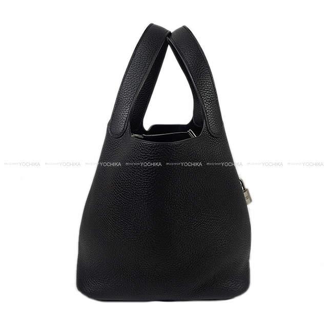 HERMES エルメス ハンドバッグ ピコタンロック 22 MM 黒(ブラック) トリヨン シルバー金具 C刻印 新品