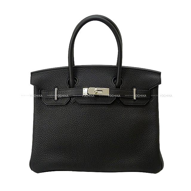 HERMES エルメス ハンドバッグ バーキン30 黒(ブラック) トリヨン シルバー金具 新品