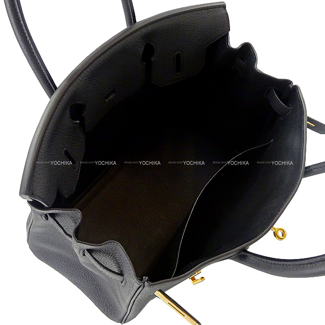 HERMES エルメス ハンドバッグ バーキン30 黒(ブラック) トゴ ゴールド金具 新品