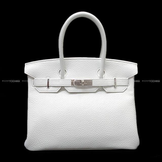 HERMES エルメス ハンドバッグ バーキン30 白 ホワイト トリヨン シルバー金具 新品未使用