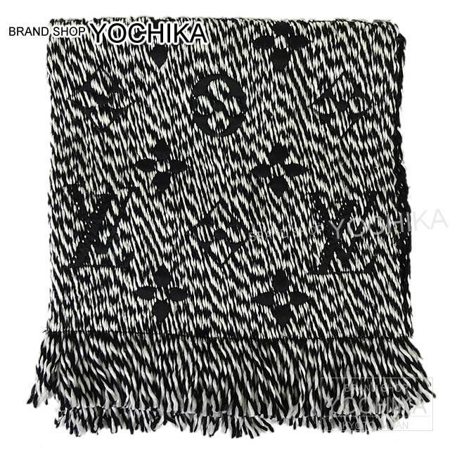 LOUIS VUITTON ルイ・ヴィトン マフラー エシャルプ・ロゴマニア 黒X白 M70424 新品