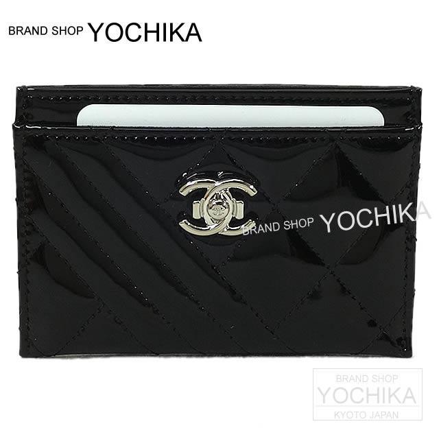 CHANEL シャネル ココボーイ カードケース 黒 パテントエナメルレザー 新品