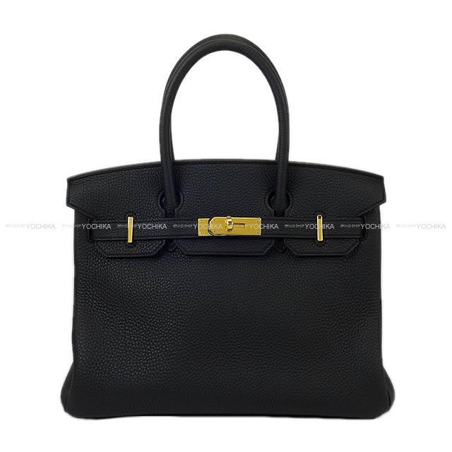 HERMES エルメス ハンドバッグ バーキン30 黒(ブラック) トゴ ゴールド金具 新品同様【中古】