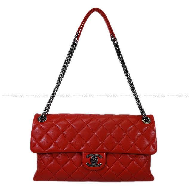 2015 2016年 限定 CHANEL マトラッセ 30W チェーン ショルダーバッグ 赤 ラムスキン 新品未使用