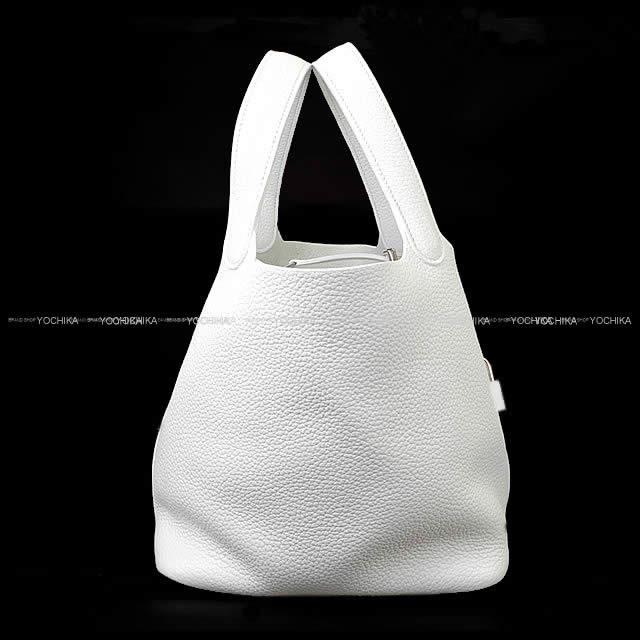 HERMES エルメス ハンドバッグ ピコタンロック 22 MM 白(ホワイト) トリヨン (内側起毛) シルバー金具 新品