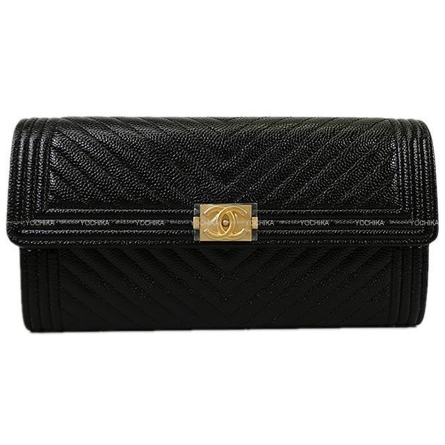 CHANEL シャネル ボーイシャネル フラップ 長財布 黒(ブラック) グレインドカーフ A80286 新品