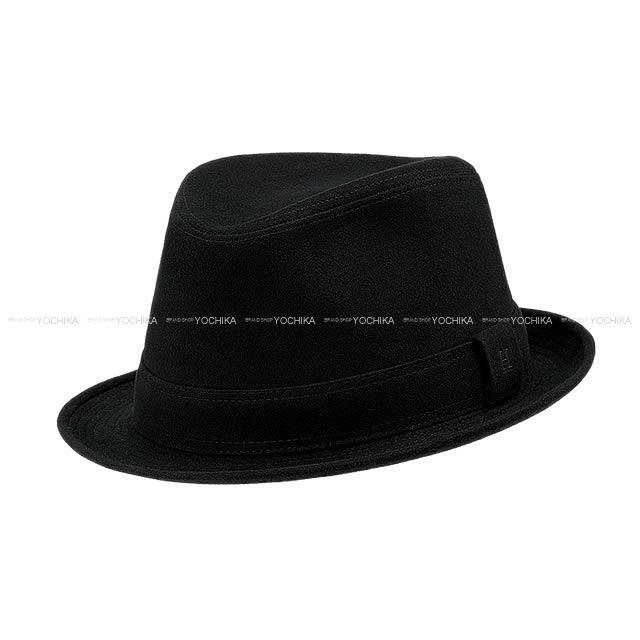 "HERMES エルメス ハット 帽子 ""Funky"" #60 黒 コットンスエード 新品未使用"