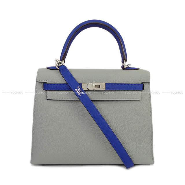 HERMES エルメス ハンドバッグ ケリー25 外縫い スペシャルオーダー ブルーエレクトリックXグリムエット エプソン 新品