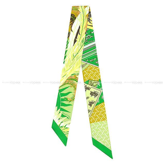 """2018春夏 HERMES エルメス ツイリー スカーフ """"Cheval Phoenix"""" ミントXマリンXシエルXコバルト"""