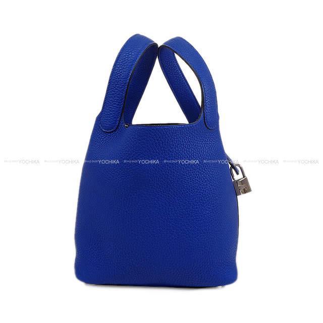 HERMES エルメス ハンドバッグ ピコタンロック 18 PM ブルーエレクトリック トリヨン シルバー金具 新品