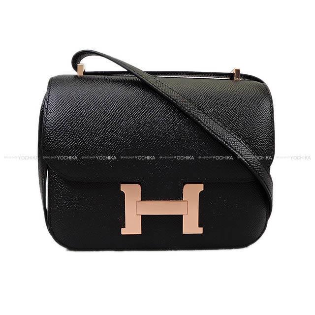 HERMES エルメス ショルダーバッグ コンスタンス 3 ミニ 18 黒(ブラック) エプソン ローズゴールド金具 新品