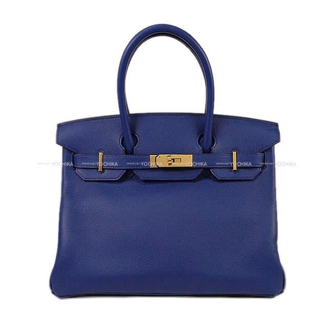 HERMES エルメス ハンドバッグ バーキン30 ブルーアンクル(ブルーインク) トリヨンノヴィーヨ ゴールド金具 新品