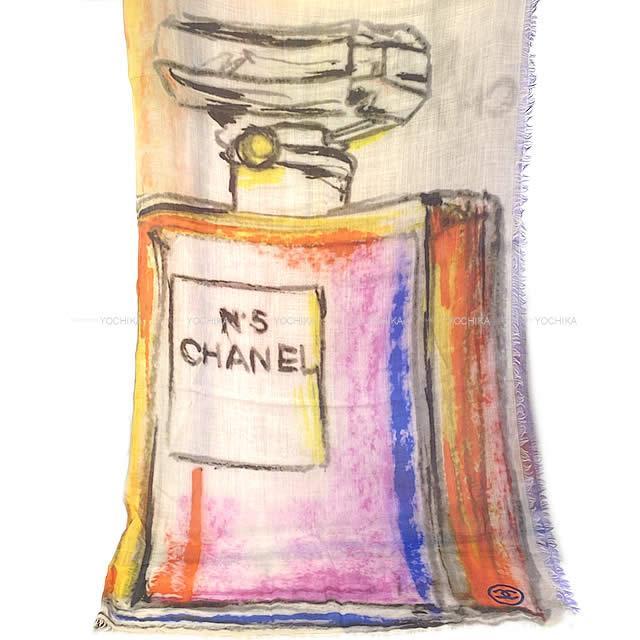 CHANEL シャネル ストール 大判ショール 香水 スプレー ペイント 14S マルチカラー カシミア100% 新品未使用