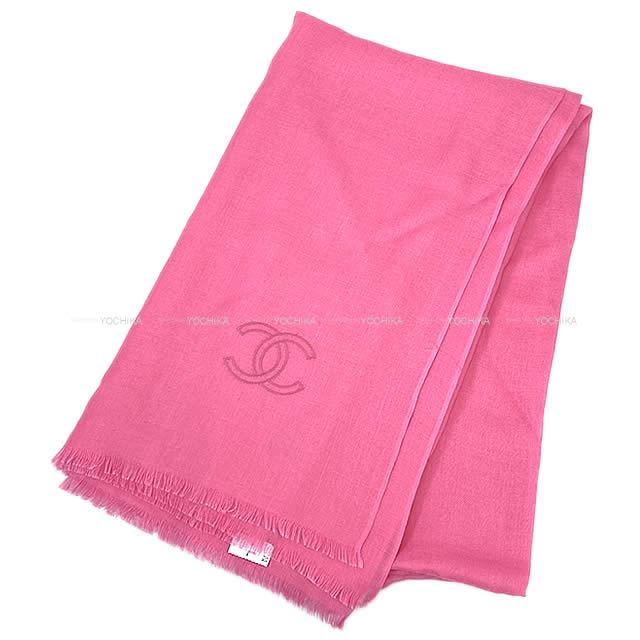 CHANEL シャネル ストール 大判ショール ストール ココマーク シンプル 17A ピンク