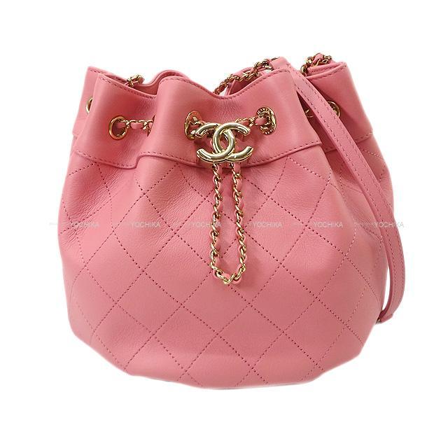 CHANEL シャネル マトラッセ ココマーク 巾着 チェーンショルダーバッグ ピンク  AS1438 展示新品