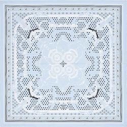 "HERMES エルメス バンダナ カレ55 ""エプロンドール"" ブルーオックスフォードX黒(ブラック)X白(ホワイト) シルク100% 新品"