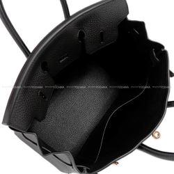 HERMES エルメス ハンドバッグ バーキン25 黒(ブラック) トゴ ローズゴールド金具 新品