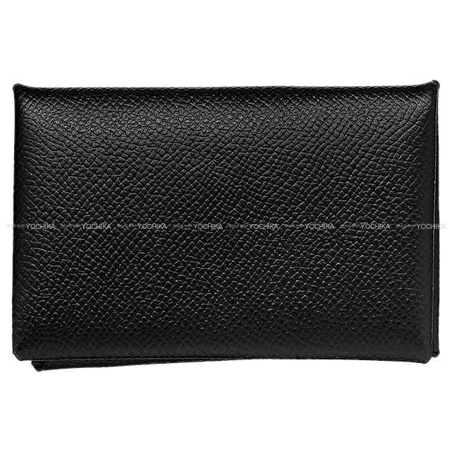 HERMES エルメス カードケース Calvi(カルヴィ) 黒(ブラック) エプソン 新品