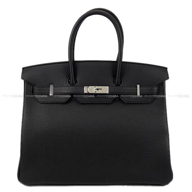 HERMES エルメス ハンドバッグ バーキン35 黒(ブラック) トゴ シルバー金具 新品未使用