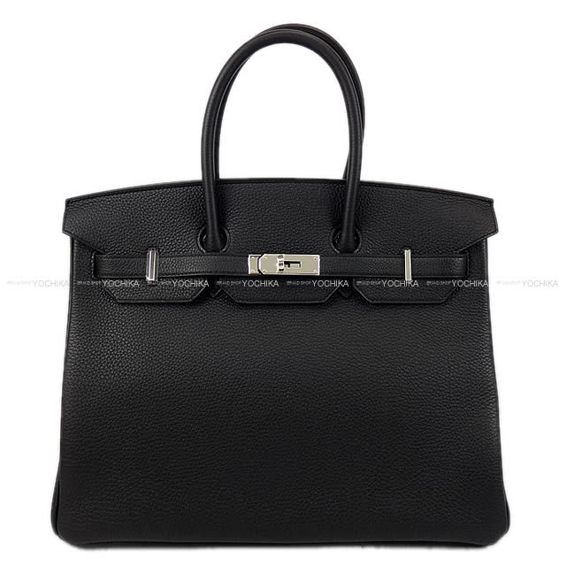 HERMES エルメス ハンドバッグ バーキン35 黒(ブラック) トゴ シルバー金具 新品