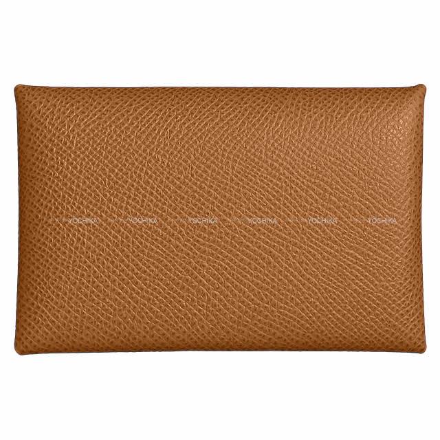 HERMES エルメス カードケース Calvi(カルヴィ) ゴールド エプソン 新品
