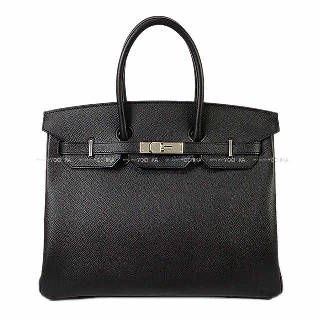 HERMES エルメス ハンドバッグ バーキン35 黒(ブラック) エプソン シルバー金具 新品
