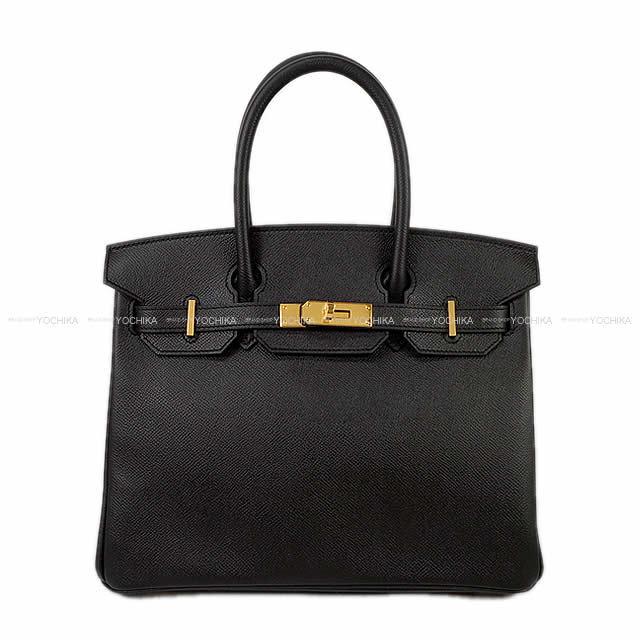 HERMES エルメス ハンドバッグ バーキン30 黒(ブラック) エプソン ゴールド金具 C刻印 新品