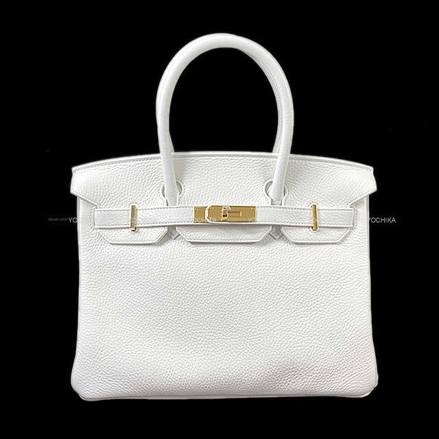 HERMES エルメス ハンドバッグ バーキン30 白(ホワイト) トリヨン ゴールド金具 新品未使用