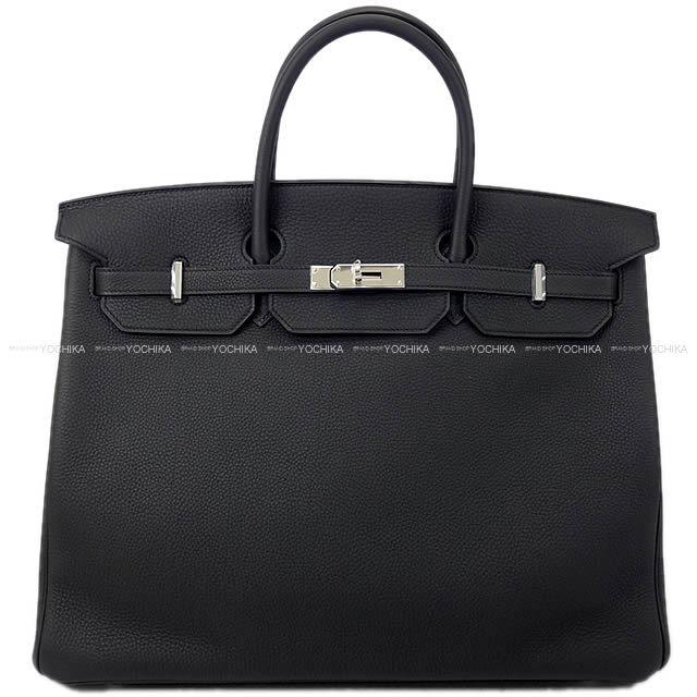 HERMES エルメス ハンドバッグ バーキン40 黒(ブラック) トゴ シルバー金具 新品