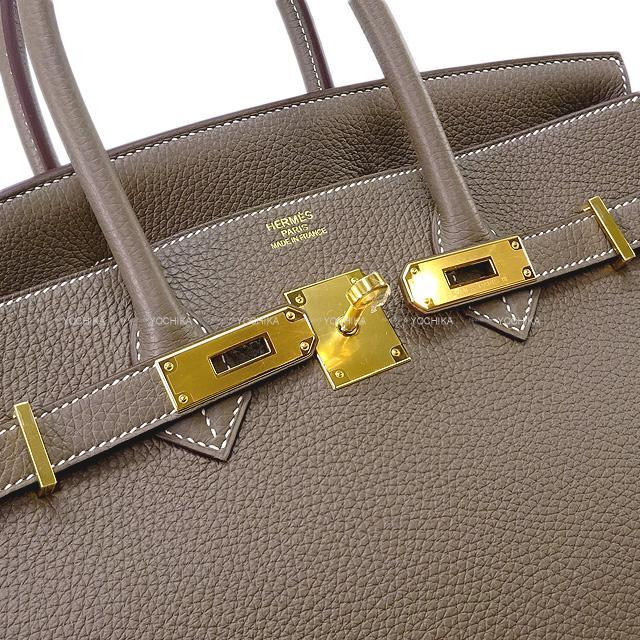 HERMES エルメス ハンドバッグ バーキン35 エトープ(エトゥープ) トリヨン ゴールド金具 新品