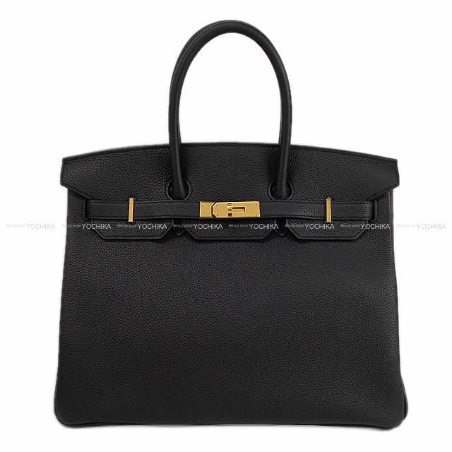 HERMES エルメス ハンドバッグ バーキン35 黒(ブラック) トゴ ゴールド金具 D刻印 新品