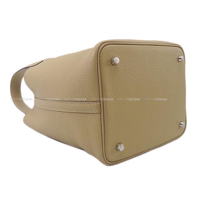 HERMES エルメス ハンドバッグ ピコタンロック 22 MM トレンチ トリヨン シルバー金具 新品