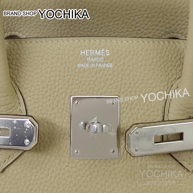 HERMES エルメス ハンドバッグ バーキン35 トレンチ トゴ シルバー金具 新品