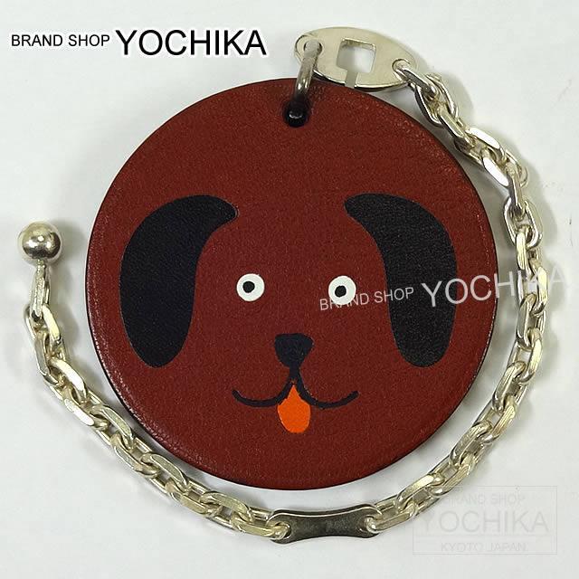 "HERMES エルメス バッグチャーム ""犬 ドッグ"" ルージュアッシュ 新品同様【中古】"