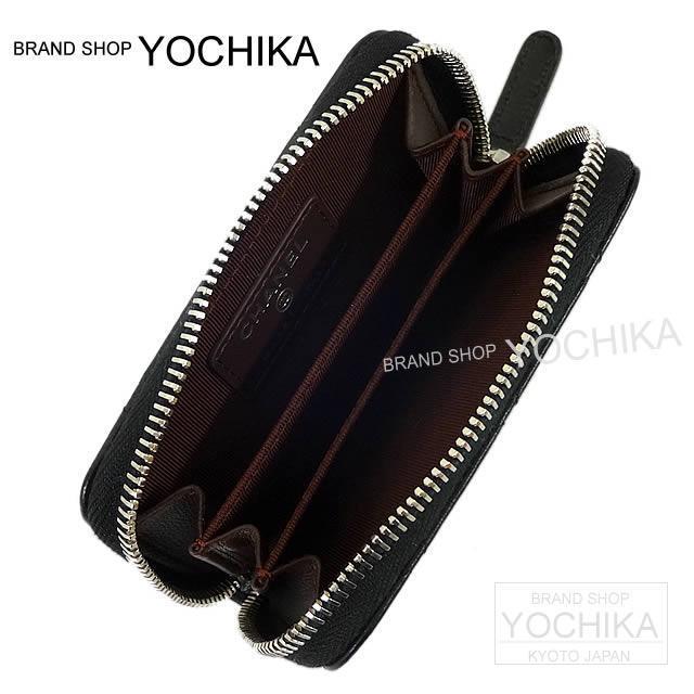 CHANEL シャネル ダイヤモンドステッチ ココマーク L字ラウンド コイン&キーケース 黒 A84030 新品